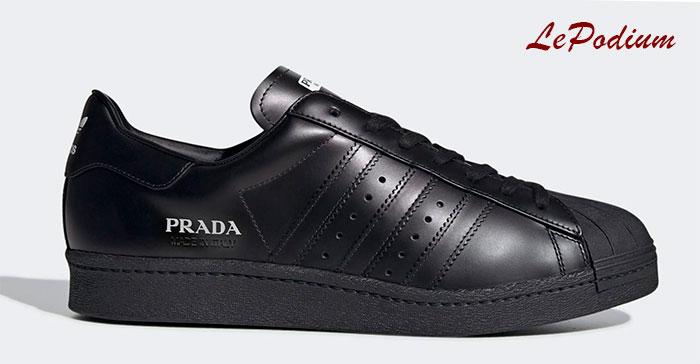 Коллаборация Prada и Adidas - кроссовки Superstar